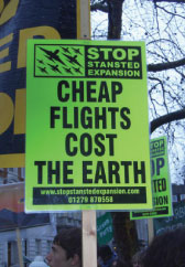 There have been numerous protests against the planned expansion of London Stansted, with a particular focus on the proposed second runway.