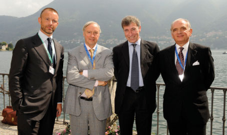 Members of the Steering Committee – Olivier Jankovec, Prof Karel Van Miert and Giuseppe Bonomi, with Paolo Borzatta from Ambrosetti.