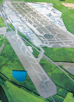 Frankfurt airport is currently in the early stages of a major expansion programme, with plans to open a new 'eco' terminal and runway in the next five years. The additional runway will mark the first phase of development, with construction beginning next year.