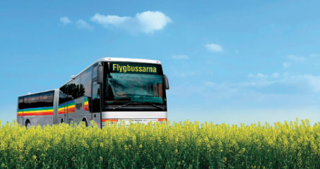 Three biogas buses are used at Stockholm Arlanda, while it was also recently announced that Flygbussarna Airport Coaches, which provides bus services to seven airports in the Stockholm, Gothenburg and Malmö regions, is adapting all of its buses to run on pure biofuel.
