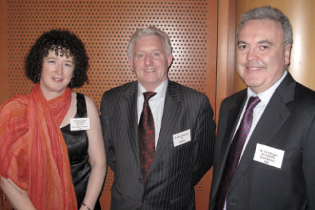 Dr Mary Coveney, Manager - Forecasts and Tariffs, DAA; Seàn O'Neachtain MEP (Ireland) and Terry Morgan, Airport Services Director, BAA.