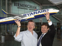 Ryanair announces 25th base at Birmingham International