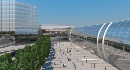 "Terminal 2 is due to open in 2015, with the final phase of the project constructed ""behind the scenes"" to 2019."