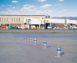 The Winnipeg Airport Authority installed a series of AV70 solar-powered taxiway and barricade lights after successful field trials.