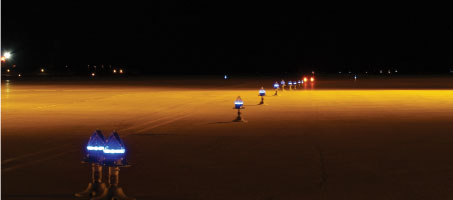 """Wilmott: """"Technology advances within solar LED airfield lighting have increased the amount of time solar powered lights can continue to run without sunlight and at a medium intensity."""""""