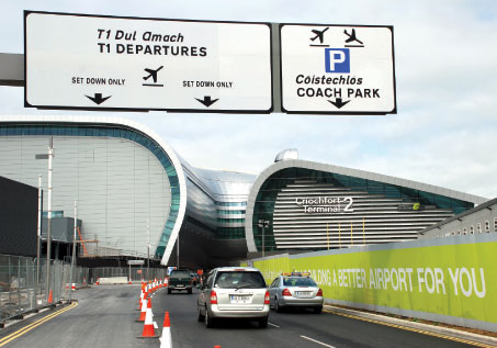 The 5610 million Terminal 2 is scheduled to open in mid-November, just three years after construction work started.