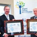 Olivier Jankovec, Director General, ACI EUROPE; Siim Kallas, European Commission Vice President in charge of Transport; and Pierre Graff, Aéroports de Paris President & Director General. Paris-Charles de Gaulle and Paris-Orly airports have progressed up a level to become Airport Carbon Accredited for 'Reduction'.