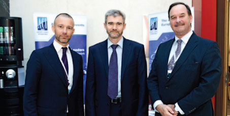 Olivier Jankovec, Director General ACI EUROPE; Vladimir Kamynin, Marketing Director, Moscow Domodedovo Airport; and Ad Rutten, President ACI EUROPE & COO Schiphol Group.