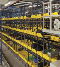 The Vanderlande BAGSTORE, based on crane/racking technology, provides high storage density, 100% availability and fast, individual access.