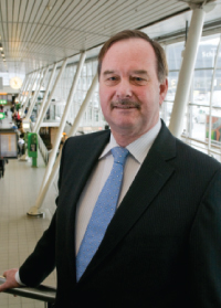 """The upgrade to Schiphol's baggage handling system will be complete at the end of 2012. Rutten explained that there has been a change of philosophy from a 'push' to a 'pull' concept. """"If the transfer time is longer than an hour, baggage can be directed to the bag store. It is a different system from existing ones and a big advantage for us. At peak times, there will be lower pressure on the baggage handling system."""""""