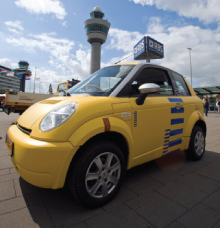 Schiphol has expressed the ambition to become carbon neutral in its own operations by 2012 and generate 20% of all its energy requirements sustainably by 2020. The airport has purchased 20 electric vehicles and is urging its subcontractors to similarly use environmentally friendly vehicles.