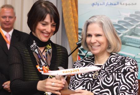 easyJet CEO Carolyn McCall & Jordanian Minister of Tourism Dr. Haifa Abu Ghazaleh