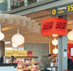 A landmark in the terminal, the new YO! Sushi outlet brings passengers all the  excitement of the authentic Japanese sushi bar.
