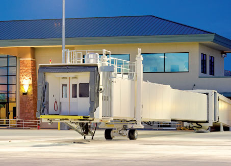 JBT AeroTech, Jetway Systems, offers a range of ground support equipment and airport gate equipment, including Jetway passenger boarding bridges, JetPower 400 Hz ground power units, and JetAire preconditioned air units.