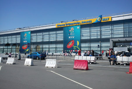 Kiev Boryspil Airport embraced the EURO 2012 atmosphere