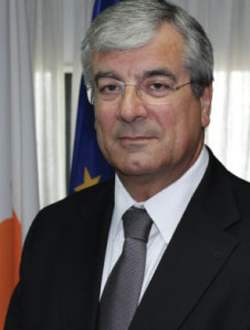 Minister of Communications &amp; Works, Mr Efthemios Flourentzou.