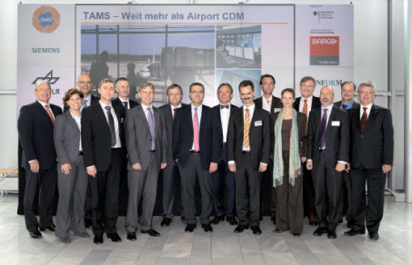 The TAMS trial was undertaken by Siemens and Stuttgart Airport, in partnership with Barco Orthogon, Inform, ATRiCS, and the German Aerospace Center (DLR).