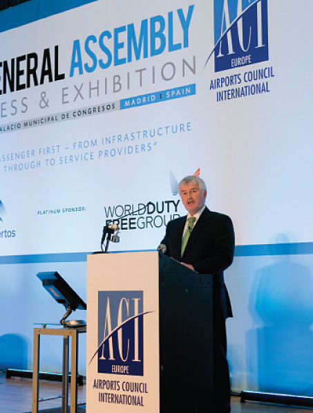 Declan Collier, CEO, London City Airport and ACI EUROPE President, highlighted a disconnect between the current economic reality and the focus of policy making.