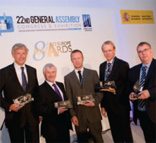 The ACI EUROPE Best Airport Award winners 2012.
