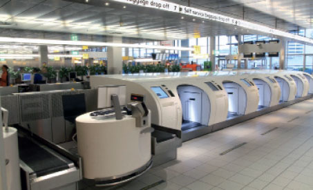 Amsterdam Airport Schiphol provides one of Europes best reference sites for self-service bag drop and 12 units are in place in Departure Hall 2.