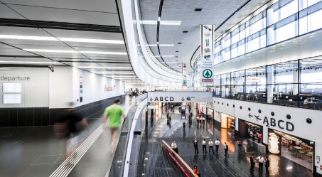 Vienna International Airport's new terminal.