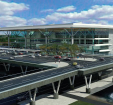 Computer generated concept of the new proposed terminal at Viracopos–Campinas International Airport.