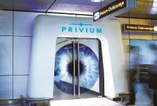 Privium passengers iris scanner