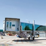 ADELTE's apron drives (pictured, Bordeaux–Mérignac Airport) are tailor-made in consultation with each individual airport to ensure that standards and special needs are met.