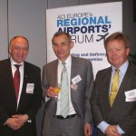 Tonci Peovic, Chair of Regional Airports' Forum & CEO, Zagreb Airport; Alain Alexis, Head of State Aids Transport, DG Competition, European Commission; and Thomas Langeland, Vice-Chair of Regional Airports' Forum & Director of Avinor Kristiansand Airport.