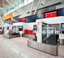 Heathrow airport recently implemented ICM's latest Auto Bag Drop Series 7.