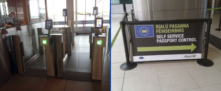 Automated border control gates at Dublin Airport
