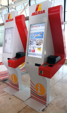 Iberia information kiosks