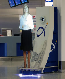 Virtual assistant at Athens International Airport