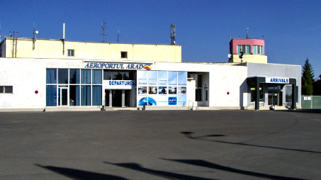 Front view of Arad International Airport.