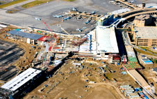 The airport expansion project at Calgary International Airport.