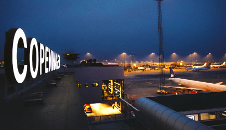 The apron at Copenhagen airport.