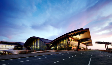 The new Hamad International Airport in Qatar.