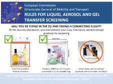 The flyer produced by ACI EUROPE providing clear information to passengers about what the new rules will mean for them from 31 January 2014.