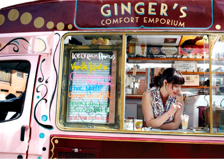 Ginger's Comfort Emporium, which serves award-winning hand-made ice creams.