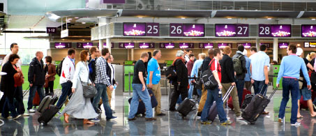Passengers at Boryspil Airport