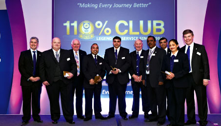 Omniserv has a staff recognition programme known as the 110% Club