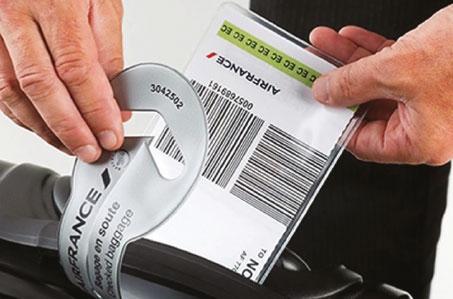 Air France introduces home-printed bag tags