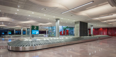 Beautiful airport interiors  for a beautiful island