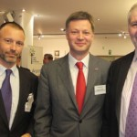 Olivier Jankovec, Director General, ACI EUROPE;  Arnaud Feist, CEO Brussels Airport, and ACI EUROPE President;  and Georges Bach MEP (Luxembourg).