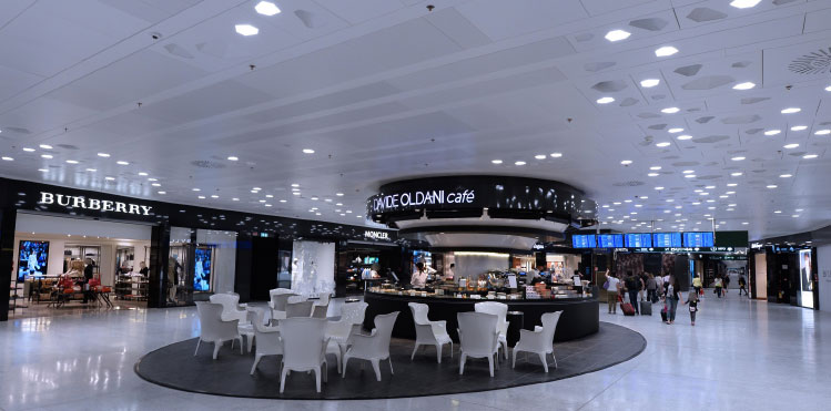 Milan Malpensa's new Terminal 1 shopping area
