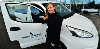 Bristol Airport's first electric car makes operations greener