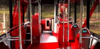 Immersive advertising onboard Heathrow inter-terminal buses