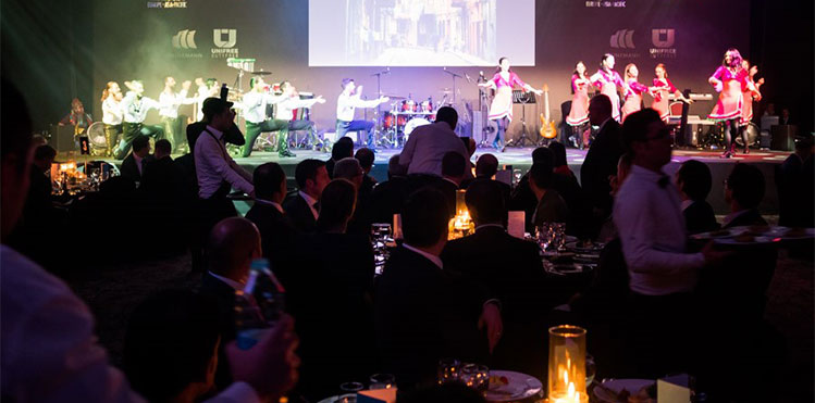 iga two spectacular social events welcome reception and a gala dinner