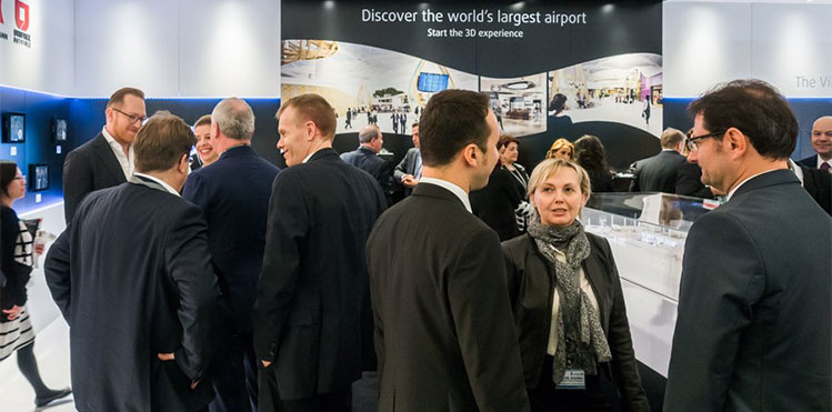 largest ever aci airport exchange exhibition over 100 companies in airport services and equipment