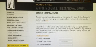 ACI EUROPE launches Airport Economic Impact Online Calculator